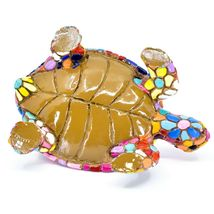 Barcino Hand Painted Limited Edition Flower Mosaic Turtle Tortoise Figure 54058 image 5