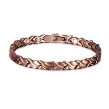 Pure Copper Bracelet Men Energy Germanium Magnetic Bracelet Copper Vinta... - $31.95