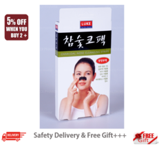 Korea Charcoal Nose Pore Cleansing Strips Blackhead Peel Off mask pack 5... - $12.22