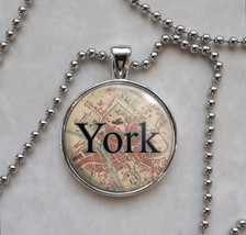 Britain Cities England UK Choose Vintage Map Necklace - £10.64 GBP+