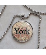 Britain Cities England UK Choose Vintage Map Necklace - $14.00+