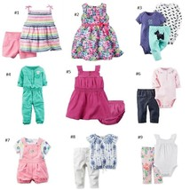 NWT Carters Baby Girl Wholesale Summer Wardrobe Lot Dress Outfit Romper ... - $79.20