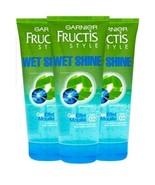 Garnier Fructis Style Wet Shine Gel 6.8 oz Strong Hold lot x 3 - $37.62