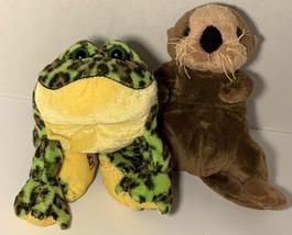 Webkinz Bundle Plush Bullfrog & Sea Otter No Code Ganz Aquatic - $19.99