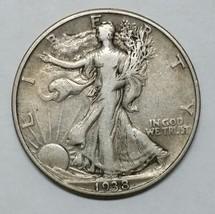 1938D Walking Liberty Half Dollar 90% Silver Coin Lot# EA 342