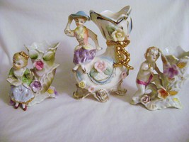 Vintage Victorian Style Vases with attached Figures - $25.00