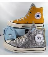 Converse x Chiara Ferragni Chuck Taylor All Star 70 Hi Sunflower Glitter... - $119.96
