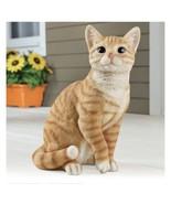 Orange Tabby Cat Outdoor Figure Statue (col) J7 - $128.69