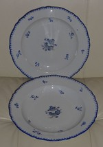 "2 ANTIQUE BOHEMIA POTTERY SERVING PLATTERS 11 1/8"" WIDE - $199.00"