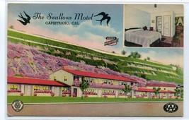 The Swallows Motel US 101 Highway Capistrano Beach California postcard - $6.44