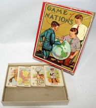 Ultra Rare Vintage 1900's Milton Bradley Game Of Nations #4376 Card Game - $30.00