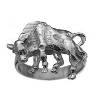 Beautiful Detailed Real Sterling Silver 925 Bull Taurus Zodiac Ring Jewe... - $30.26