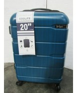 """New Coolife Luggage 1 Piece Suitcase w TSA Lock Travel ABS+PC 20"""" Blue A172 - $78.49"""