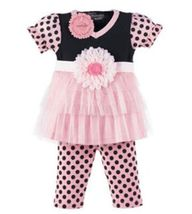 Perfectly Princess Tunic With Leggins 0-6 Months - $24.00