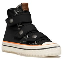 Coach High Top Button Up Sneakers Black Size 5 Msrp: $295.00 - $197.99