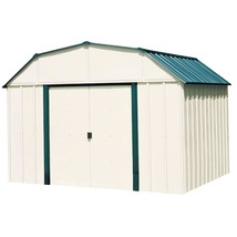 Storage Shed Building Vinyl Coated Steel 10x14 Lockable Door Outdoor Gar... - $841.79