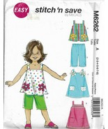 McCall's Stitch N Save Pattern #M6262-Child/Girl's Tops-Dresses-Pants Sz  2-8 - $4.95