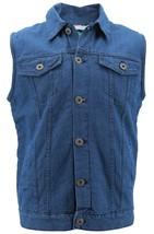 Gary Pallan USA Men's Sherpa Fleece Lined Cotton Denim Jean Trucker Vest image 1