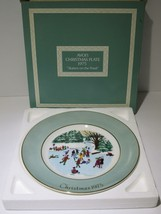 1975 Avon Christmas Plate Series Fourth Edition Skaters on the Pond with... - $21.73