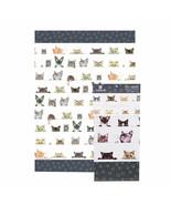 Cats Tea Towel Peeping Felines Ashdene Kittens 100% Cotton Tabby Siamese... - $14.84