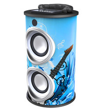 Supersonic Portable Bluetooth Rechargeable Speaker-Blue (Music) - $53.49 CAD