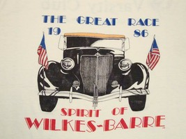 Vintage The Great Race 1986 80's Wilkes Barre Varsity Club Paper Thin T Shirt M - $19.55