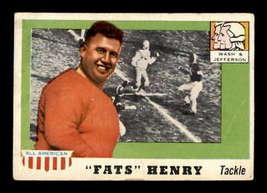 VINTAGE NFL 1955 Topps #100 Fats Henry SP RC G  - $69.79
