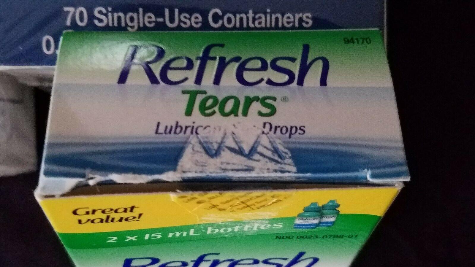 LOT of Refresh Plus Eye Drops 140 Vials+Refresh Tears Eye Drops 3 x 15ml Bottles