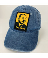Vintage Dr Martin Luther King Embroidered Patch Blue Denim Hat Adjustable - $49.49