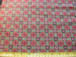 1/2 Yd Andover Fabric Quilt Study Center Rust Gold Green Black - $5.08