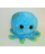Petting Zoo plush blue green spots octopus Cape Cod embroidered back big... - $13.36