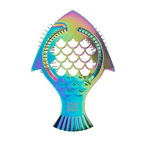 Stainless Strainer, Rainbow Iridescent Fish Steel Cocktail Bar Strainer Filter