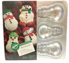 Wilton Mini Snowman Cake Pan Makes 6 Individual Snowmen Vintage 1992 New... - $19.79