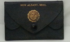 New Albany Mississippi International Civitan Leather Pouch card holder 1... - $26.35