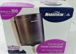 New Center Pull Commercial Towel Dispenser Marathon Smoke 300 Sheets Cap... - $22.76