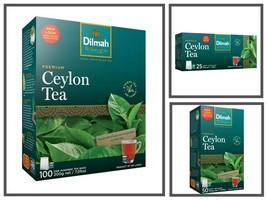 Dilmah Ceylon premium Black Tea Bags 50/100/200g- (25, 50,100 Bags) - $5.82+