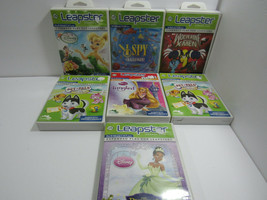 Lot Of 7 Leapfrog Leapster Disney Tangled, Princess Frog, Pet Pals Wolverine - $19.79