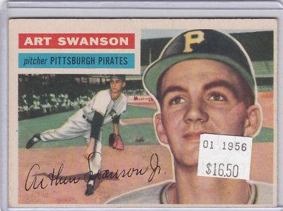 1956 Topps 204 Art Swanson  Not Graded 02