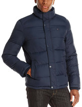 Tommy Hilfiger Men's Premium Insulated Classic Puffer Nylon Jacket Midnight Blue