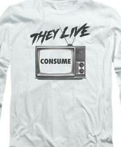 They Live T-shirt retro 1980's horror movie long sleeve graphic tee UNI609 image 3