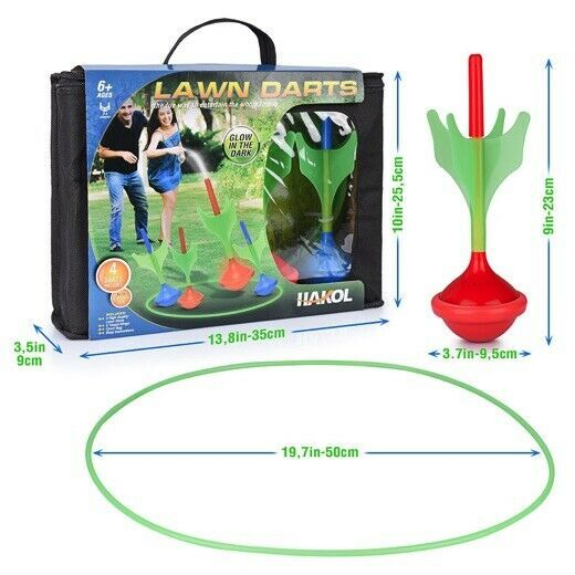Lawn Darts Game – Glow in The Dark, Outdoor Backyard Toy for Family Fun, Parents image 7