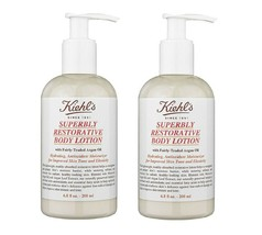 Kiehl's ~ Superbly Restorative Argan Body Lotion ~ 6.8 oz ~ SET of 2 ~NEW   - $65.44