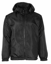 LAX Men's Premium Water Resistant Security Reversible Jacket With Removable Hood image 2