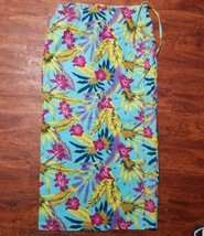 Women's Pearl Head Bay Wrap Skirt ~ Sz 12 ~ Hawaiian ~ Long ~ Linen Blend - $14.84