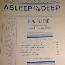 Vintage Sheet Music A Sleep In The Deep 1954 H W Petrie Rubank Inc Chicago - $11.55