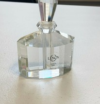 LENOX JEWELED ICE OVAL CRYSTAL PERFUME BOTTLE  - $20.00