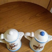 Paris & BeeBee Cow Girls Salt & Pepper Shakers   Made of Stoneware Set  image 2