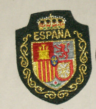Espana Shield of Arms Embroidered Sewn World Travel Patch - $9.18