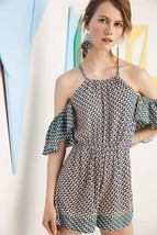 New Anthropologie Madalenna Open-Shoulder Romper by Elevenses $98 SMALL - £33.61 GBP