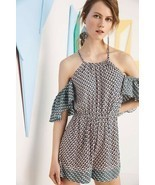 New Anthropologie Madalenna Open-Shoulder Romper by Elevenses $98 SMALL - £33.68 GBP